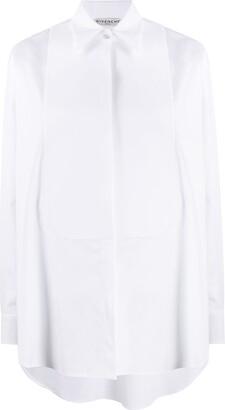 Givenchy Bib Long-Sleeved Buttoned Shirt