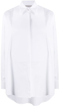 Givenchy bib long-sleeved buttoned shirt