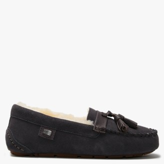 Australia Luxe Collective Patrese Grey Double-Face Sheepskin Slippers