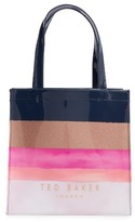 Ted Baker Marina Mosaic Stripe Small Icon Tote - Blue
