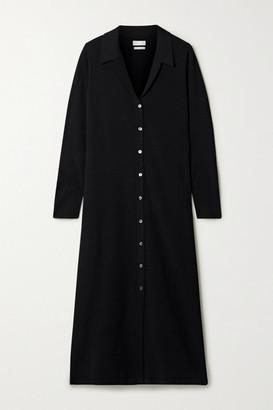 Deveaux - Nye Stretch-knit Midi Shirt Dress - Black
