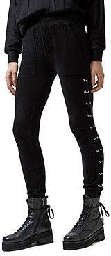 The Kooples Pierced-Side Leopard Print Jogger Pants