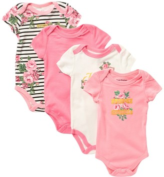 Juicy Couture Knit Bodysuits - Set of 4 (Baby Girls 0-9M)