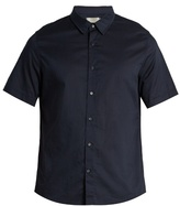 Vince French-placket Cotton-voile Shirt