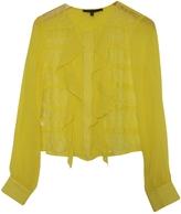 BCBGMAXAZRIA Lace-Decorated Tunic