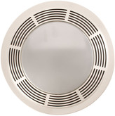 Broan Round 100 CFM Exhaust Bathroom Fan with Light and Night Light