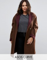Asos Coat with Contrast Collar and Cuff
