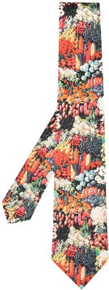 Paul Smith Floral Silk Embroidered Tie