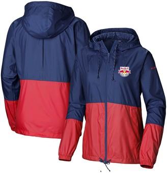 Women's Columbia Navy/Red New York Red Bulls Flash Forward Team Windbreaker Jacket