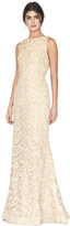 Alice + Olivia Kacie Embellished Sleeveless Long Gown