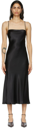 Le Kasha Black Silk Hotan Dress