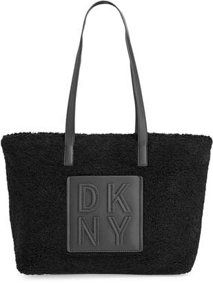 DKNY Faux Shearling Tote Bag