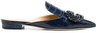 Giannico Daphne embellished slippers