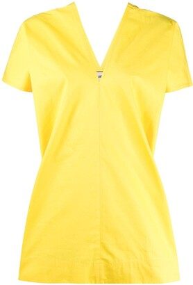 Plan C Boxy Short Sleeve Blouse