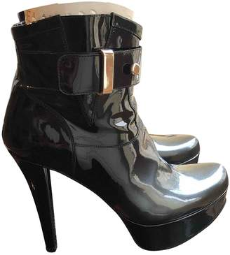 Free Lance Black Patent leather Ankle boots