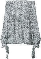 Derek Lam printed bardot blouse