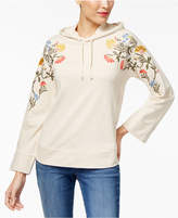 Style&Co. Style & Co Cotton Embroidered Hoodie, Created for Macy's