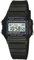 Casio Illuminator Mens Square Black Resin Strap Digital Sport Watch F105W-1OS