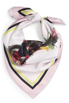 Givenchy Women's Floral Star Print Silk Scarf