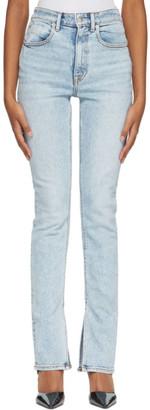 Alexander Wang Blue Stovepipe Jeans