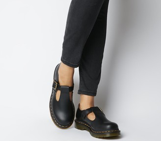 Dr. Martens Polley T Bar Shoes Black