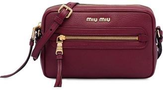 Miu Miu Zip Front Crossbody Bag