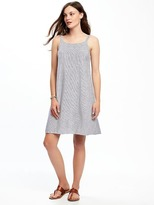 Old Navy Linen-Blend Tie-Back Shift Dress for Women