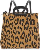 Clare Vivier Marcelle Animal Print Suede Backpack