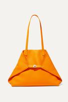 Akris Ai Large Textured-leather Tote - Orange