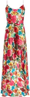 Alice + Olivia Christina Floral Maxi Dress