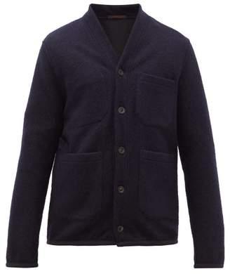 The Gigi - Single-breasted Technical-blend Fleece Blazer - Mens - Navy
