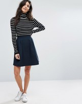 Vila Textured Skater Skirt
