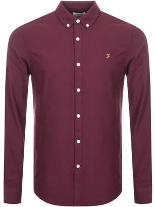 Farah Brewer Slim Fit Shirt Burgundy