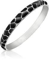 Just Cavalli Black Giraffe Patterned Stainless Steel Bangle Bracelet