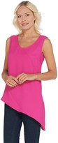 Brooke Shields Timeless BROOKE SHIELDS Timeless Sleeveless Woven Top w/ Asymmetric Hem