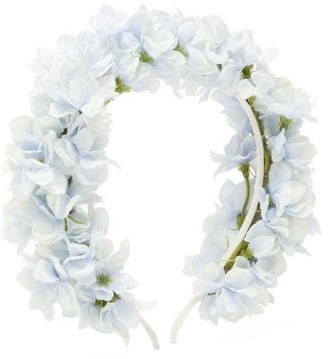 Philippa Craddock - Delphinium Faux-flower Headband - Womens - Light Blue