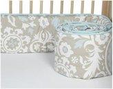 New Arrivals Inc. New Arrivals Picket Fence Crib Bumper-Aqua & Khaki