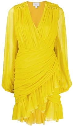 Giambattista Valli Ruffle-Trimmed Draped Dress