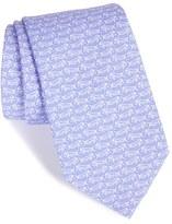 Vineyard Vines Men's Fish Print Silk Tie