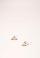 Missguided Diamante Drop Detail Earrings Gold