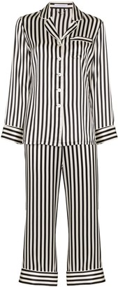 Olivia von Halle Lila striped pyjama set