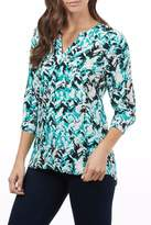 FDJ French Dressing Chevron Popover Blouse