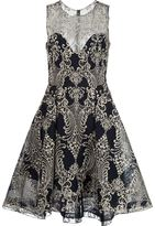 Marchesa embroidered dress - women - Nylon - 10