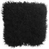 "CB2 Mongolian Fur Black 16"" Pillow With Feather Insert"