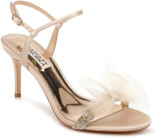 Badgley Mischka Janie Embellished Tulle Sandal