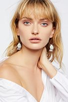 Free People Jenna Semi-Precious Charm Hoops
