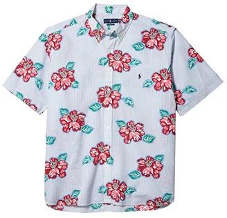 Polo Ralph Lauren Big & Tall Big Tall Floral Shirt (Hibiscus Floral Stripe) Men's Short Sleeve Button Up