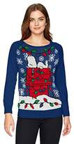 Hybrid Apparel Women's Snoopy Light up Holiday Sweater