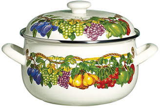Tabletops Unlimited Kensington Garden Porcelain Enamel 5 Qt Covered Casserole