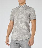 Reiss Palmetta Palm Print Shirt